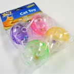4 Pack Cat Toy Ball w/ Bell Inside  12 sets per pk .85 each set