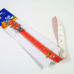 "12"" All Red Cat Collar w/ Silver Bell 6  per pk .65 each"