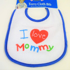I Love Mommy Baby Bibs 12 per pack .85 each