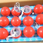 All Red Flashing Reindeer Noses 12 per display bx .55 ea