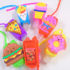 "3"" Fast Food Theme Fruit Scented Hand Santizers 12 per pk @ .56 each"