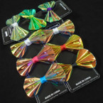"3 Pack 3"" Shiney Metallic Gator Clip Bows .49 per set"
