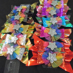 "5.5"" Layered Gator Clip Bows Super Shiney w/ Glitter Bow .54 ea"