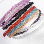 Popular Twisted Seed Bead Fashion Headbands Mixed Colors   .54 ea