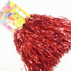 2 Pack Metallic Foil Cheerleader Pom Pom's Asst Colors .58 per set