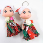 "Christmas Theme 5""  Doll Keychains .56 each"