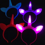 Multi Function Super Brite  Light Up Unicorn Headbands  .75  ea
