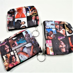 "4.5"" Obama Picture Theme Zipper Coin Purse w/ Key Chain .54 ea"