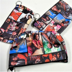 "6.5"" Obama Picture Theme Zipper  Purse w/ Key Chain .54 ea"