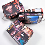 "3.5 X 3"""" Obama Picture Theme Zipper  Coin Purse w/ Key Chain .54 ea"