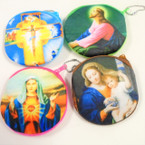 "4""  Religious Picture Velveteen Coin Purses  .54 ea"