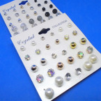 15 Pair Mixed Style Stud Post Earrings .50 per set