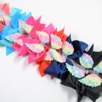 "6"" Gator Clip Bows w/ Multi Color Angel Wings & Cry. Stones .54 ea"