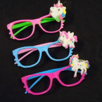 Two Tone Novelty Glasses w/ Flashing Unicorn .55 each