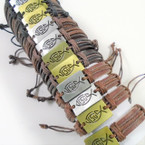 Teen Leather Bracelet w/ New Style Jesus Fish     .56 each