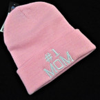#1 MOM Knit Winter Caps All Pink 12 per pk $ 2.75 each