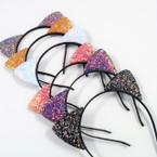 Popular Cat Ear Headbands Mixed Sparkle Design .54 ea