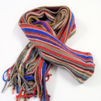 "SPECIAL 7"" X 64"" Multi Knit Stripe Pattern Scarf 12 per pk $ 1.25 each"