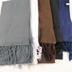 """Special 8.5"""" X 60"""" Fleece Feel Finge Scarf 5 colors   .75 each"""
