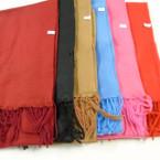 "Special 8.5"" X 60"" Fleece Feel Fringe Scarf 6 colors   .75 each"