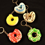 "2"" Asst Style Soft Squishy Food Theme Keychains .55 ea"