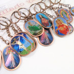 "2"" Metal DBL Sided Religious Picture Keychains Mixed Styles  .56 ea"