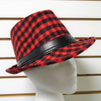 SPECIAL Best Quality Wool Feel Checker Pattern Fedora's  $ 1.66 each