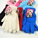 Girl's Mixed Color Cozy Soft Feel Knit Winter Gloves .58 per pair