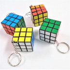 "1"" Square Magic Cube Keychains 12 per pk .54 ea"
