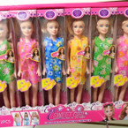 "10"" Mixed Style Toy Dolls Dressed Up 12 per display case .75  each"