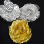 "5"" Gold & Silver 3 in 1 Use Silk Flower Bows .54 each"