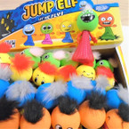"4.5"" Jump Elf w/ Hair Mixed Colors & Expressions 24 per display .28 each"