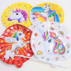 "5.5"" Self Inflatable Unicorn Theme Balloons 40 per display bx .17 each"