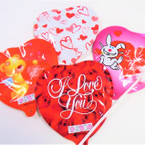 "5.5"" Self Inflatable I Love You Heart Theme Balloons 40 per display bx .18 each"