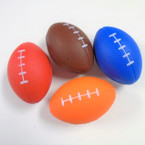 "3.5"" Squeeze Relax Footballs Asst Colors 12 per pk .52 each"