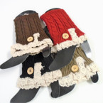"Best Quality 8"" Fashion Knit Leg Warmers Mixed Colors ONLY $ 1.50 ea"