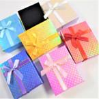 """2.75"""" X 3.5"""" Metallic Square Gift Boxes w/ Ribbon .54 each"""