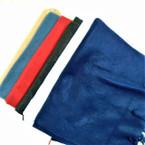"""Special 10"""" X 60"""" Fleece Feel Fringe Scarf winter colors .75 each"""