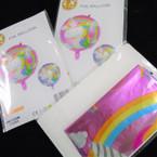 "17"" Foil Mylar Helium Balloons Unicorn Theme 12 per pk .56 ea"