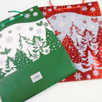 "10"" X 12.5"" Best Quality Foil Glitter/Matt Finish Christmas Gift Bags 12 per pk  .58 ea"