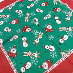"22"" Square Classic Let It Snow Theme Bandana .55 each"