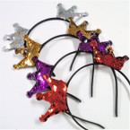Change Color Crown Theme Sequin Headbands .54 each