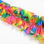 "5"" Rainbow Color Gator Clip Bows w/ Clear & Multi Color Stones .54 ea"