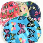 "5"" X 8"" Butterfly Pattern Zipper Cosmetic Bags .56 each"