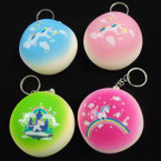 "3"" X 1.5"" Puffy  Squishy Scented Unicorn Keychains .625 each"