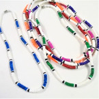 Three Tone Round Puka Shell Necklaces Asst Colors $ 1.00 ea