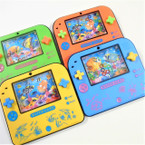 "4.5"" X 5"" Square Shaped Water Game Toy Asst Colors .58 ea"