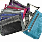 NEW 2 Zipper Velvet Winter Color Waist Bags $ 3.00 ea