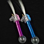 "15"" Flashing Fiber Optic Unicorn Stick sold by pc $ 1.75 each"