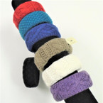 SPECIAL Mixed Color Knit Bangle Bracelets 24 per pack .49 each